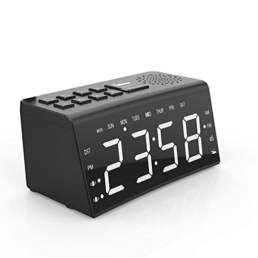 Radio reloj despertador digital, creativo Bluetooth reloj ...