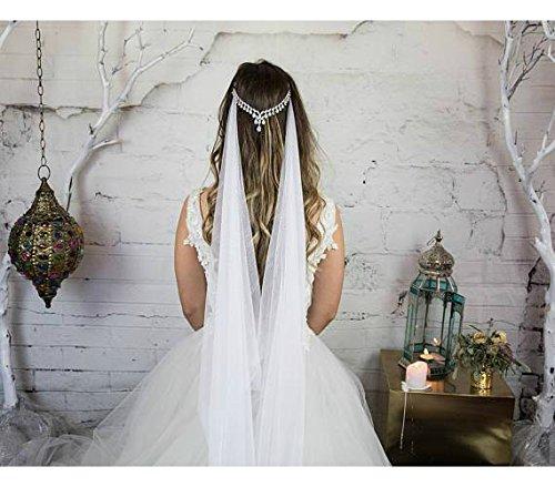 Bridal Head Chain Headpiece, Zirconia Crystal Headband, Goddess Hair Chain, Wedding Hair Accessories, Designer Jewelry