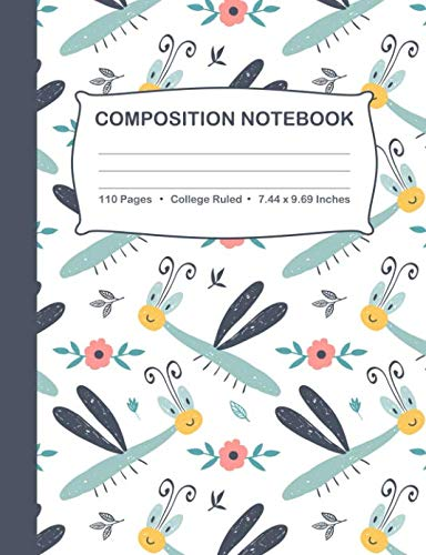 Composition Notebook: Dragonfly College Ruled Blank Journal ()
