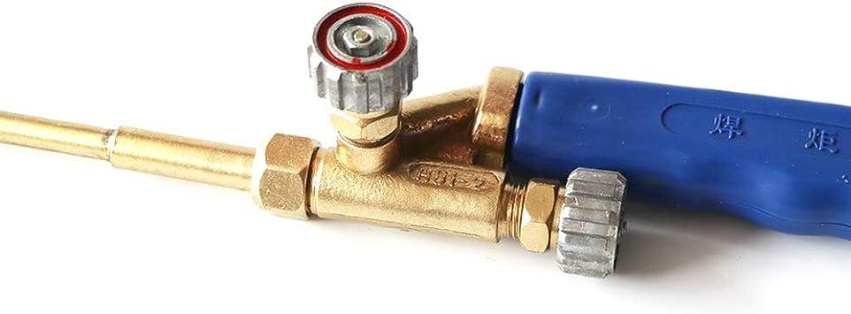 soldadura Soplete de soldadura de gas de acetileno de ox/ígeno para aire acondicionado tuber/ía de cobre azul y dorado soldadura calefacci/ón H01-2 refrigerador