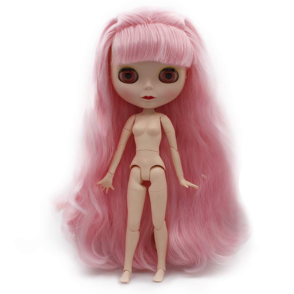 1//6 BJD Doll is Similar to Neo Blythe 12 Inch Customized Dolls Can Changed Makeup and Dress DIY 4-Color Changing Eyes Matte Face and Ball Jointed Body Dolls Deep Purple