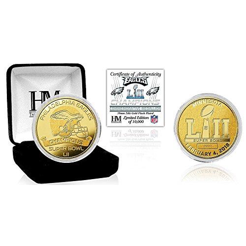 Philadelphia Eagles Highland Mint Super Bowl LII Champions 39mm Gold Mint Coin