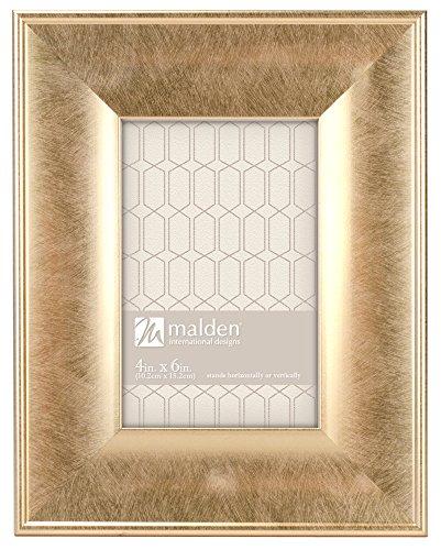 Malden International Designs Gilded Collins Moulding Scoop Picture Frame, 8x10, Gold