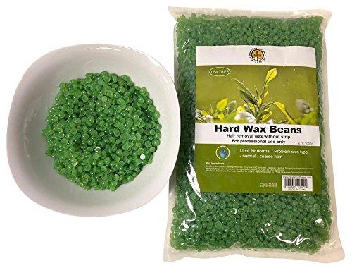 Hard Gold Wax (DevLon NorthWest Hard Wax Beans 2.2 Pounds Hair Removal Arm Leg Facial Women Men Self Waxing (Tea Tree))