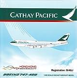 JCW4001 1:400 JC Wings Cathay Pacific Boeing 747-400 Reg #B-HUJ (pre-painted/pre-built)