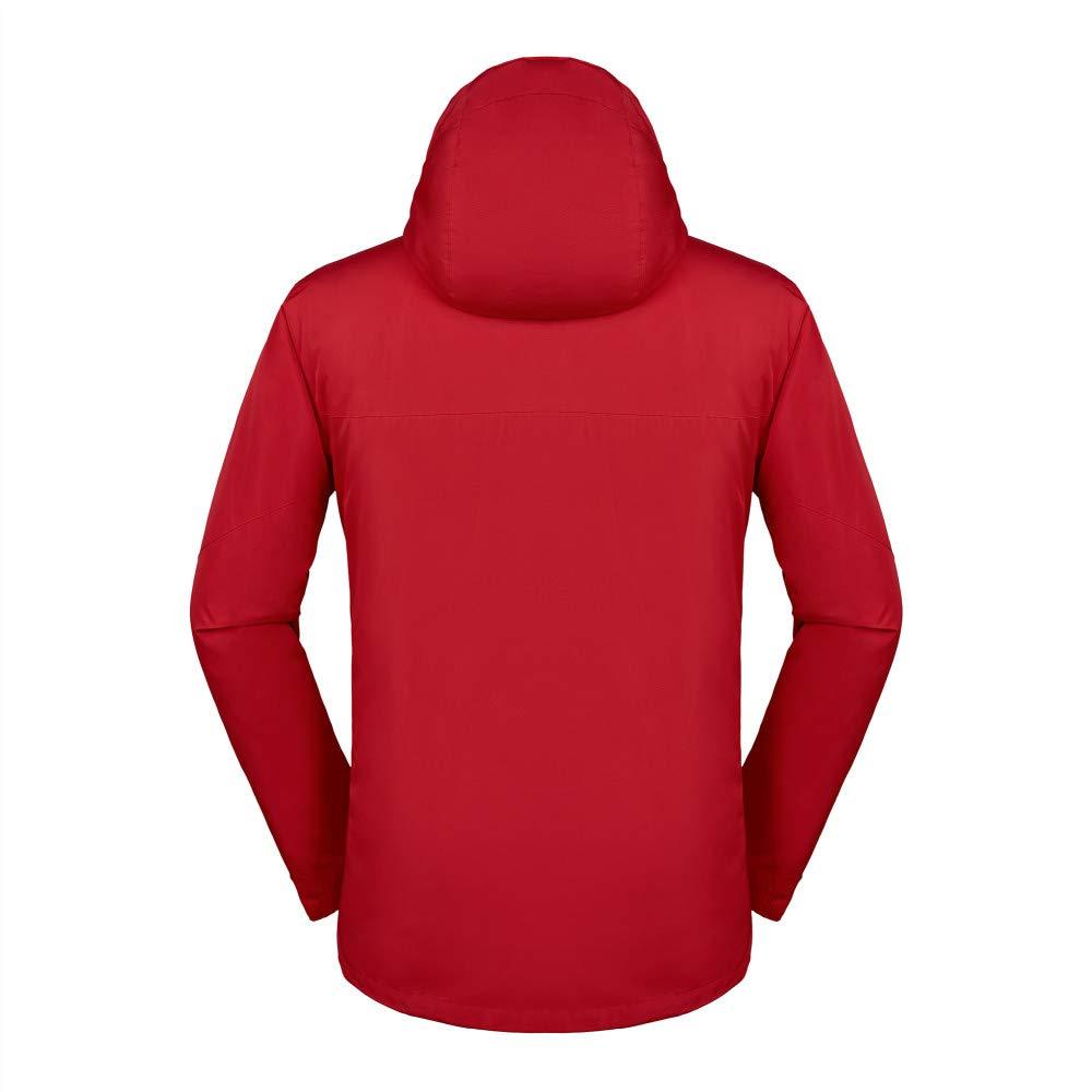 ChenYongPing Wasserdichte Herrenjacke Mountain Wear Wasserdichte Skijacke Outdoorjacke für Mannfrauen Outdoorjacke wasserdicht Warm (Farbe   rot, Größe   M)