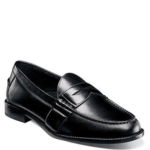 [Nunn Bush Men's Noah Penny Loafer, Black, 9 W US] (Dress Loafer Beef Roll)