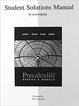 Book Student Solutions Manual for use with Precalculus: Graphs and Models by Raymond Barnett (2008-07-08)