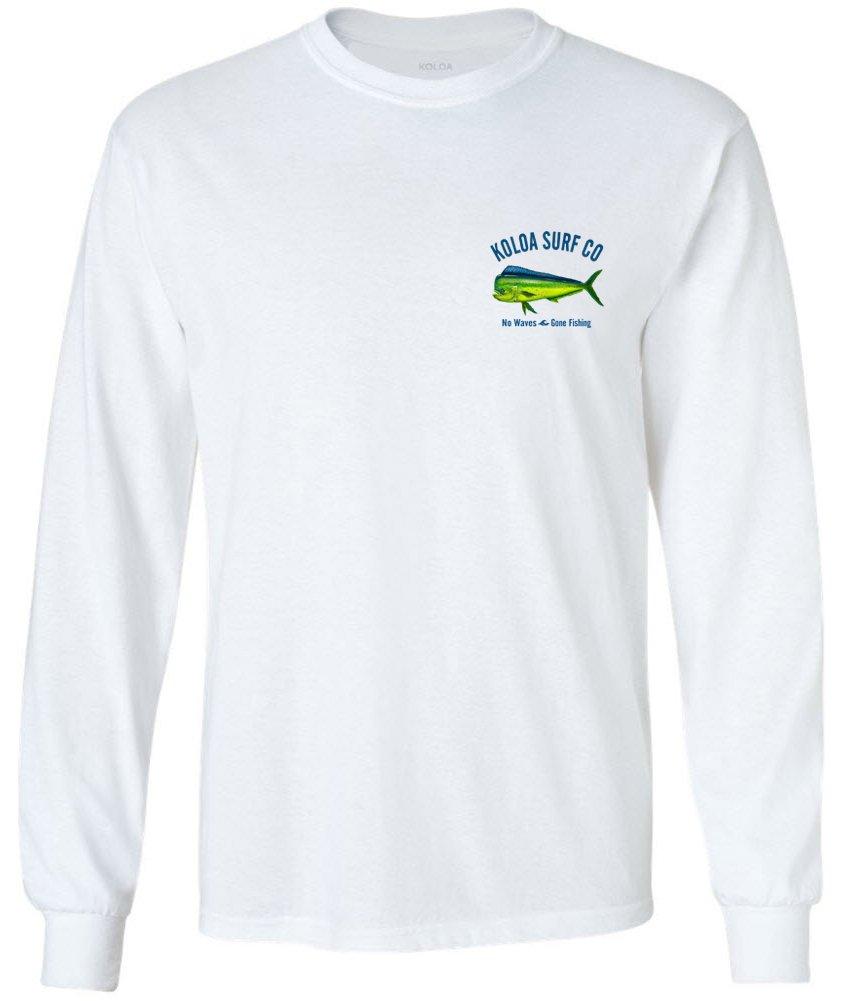 Koloa Surf Mahi Mahi No Waves Long Sleeve Shirt-White-S