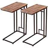 "Product review for Tangkula 2 PCS 26"" Solid Wood Coffee Tray Side Sofa End Table Ottoman Couch Stand TV Lap"