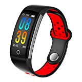 Fitness Tracker, Dosmix Activity Watch with Heart Rate, Blood Pressure and Respiratory Frequency Monitor, IP 68 Swimming-Wearable with Calorie Steps Sleeps Monitor for Women Kids Men/Android iOS(Red)