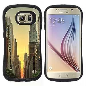 """Hypernova Slim Fit Dual Barniz Protector Caso Case Funda Para Samsung Galaxy S6 [Empire York Edificio Amanecer Cielo""""]"""
