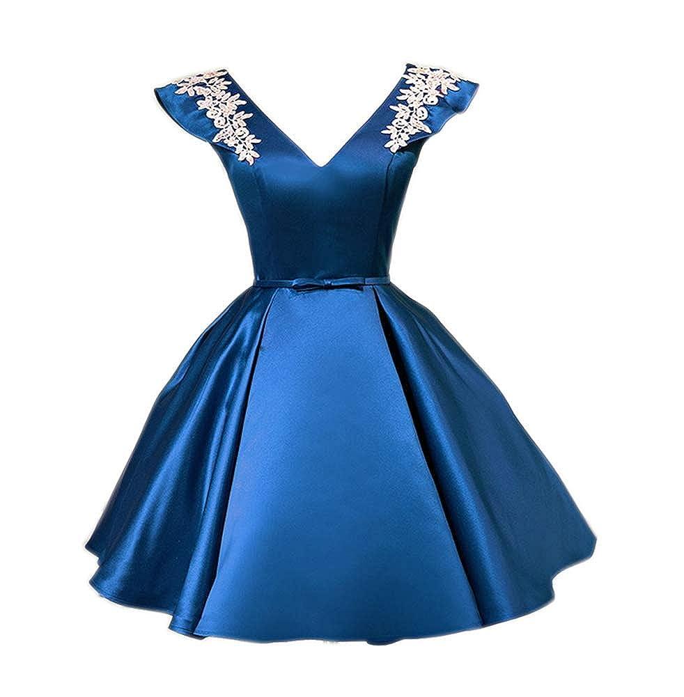 bluee CiONE Vintage Wedding Dress Short Homecoming Dress Short Cocktail Dresses