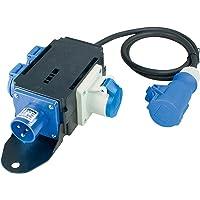 as - Schwabe MIXO Strömfördelare SAALE – Distributör med CEE-kontakt till CEE-uttag inkl. 1,5 m kabelledning, 2 CEE…