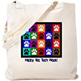 CafePress - Vet Tech Week - Natural Canvas Tote Bag, Cloth Shopping Bag