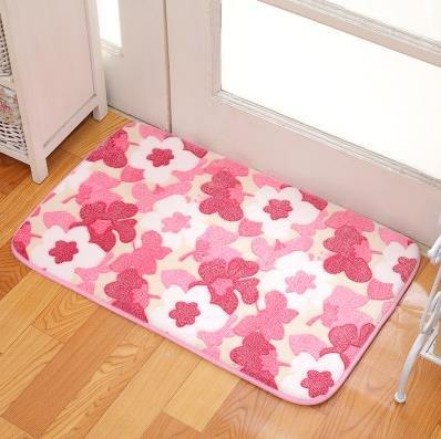 GRENSS Romantische Blaumenzimmer Fußmatten, Sweet Rosa Drucken Drucken Drucken Teppiche für Wohnzimmer Modern, Coral Fleece Bad Wasser Teppich. 40 cm60 cm, 2.400 mm x 600 mm B077ZBVP59 Duschmatten c86dcd