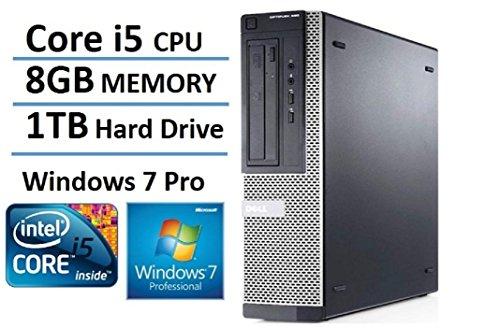 Fast Optiplex 390 Business Desktop Computer Tower PC (Intel Core i5-2400, 8GB Ram, 1 TB HDD, HDMI, WiFi, DVD-RW) Win 7 Pro - 64 Bit (Certified ()
