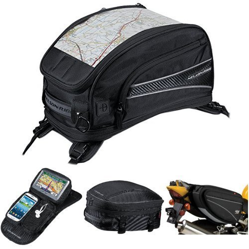 Nelson-Rigg CL-2015-ST Black Strap Mount Journey Sport Tank Bag,  CL-GPS-MG Black Magnetic Mount Journey GPS Mate,  CL-1060-S Black Sport Tail/Seat Pack,  and  CL-950 Black Deluxe Sport Touring Saddle Bag Bundle