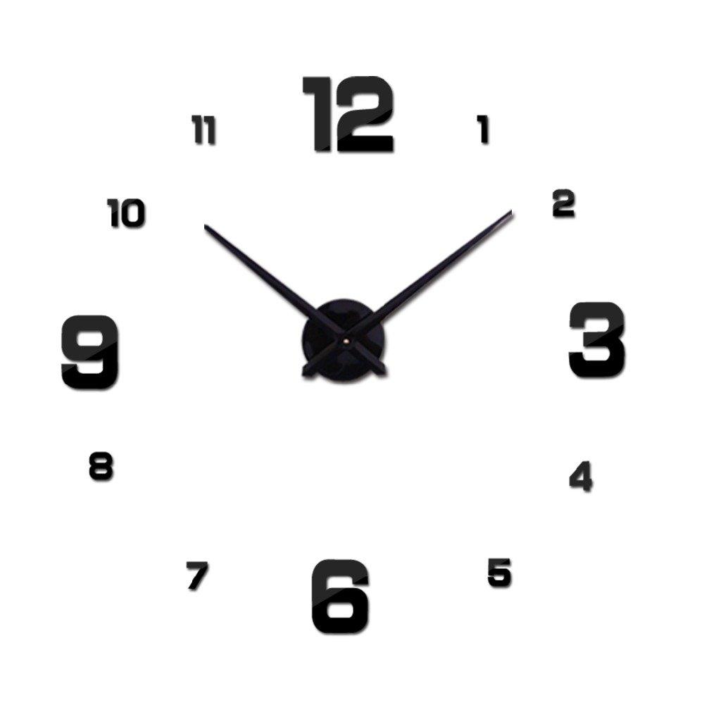 Amazon.com: Best.trademark: HOT 3D DIY Acrylic miroir Wall Clock 3D Stickers Watch Clocks Quartz Modern reloj de pared Home Decoration New: Home & Kitchen