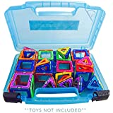 Life Made Better Magnetic Carrying Case, Compatible with Magformers and Magna Tiles, Playset Organizer (Blue)
