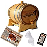 Personalized American Oak Aging Barrel - Design 028: Single Barrel (1 Liter)