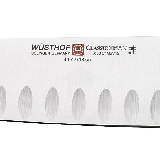 Amazon.com: Wusthof Classic Ikon cuchillo santoku con filo ...