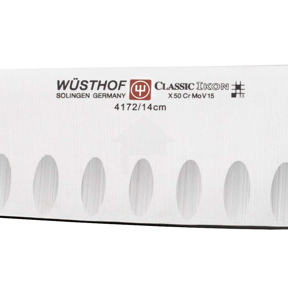 Wusthof 4172-7 Classic IKON Hollow Edge Santoku, One Size, Black, Stainless by Wüsthof (Image #4)