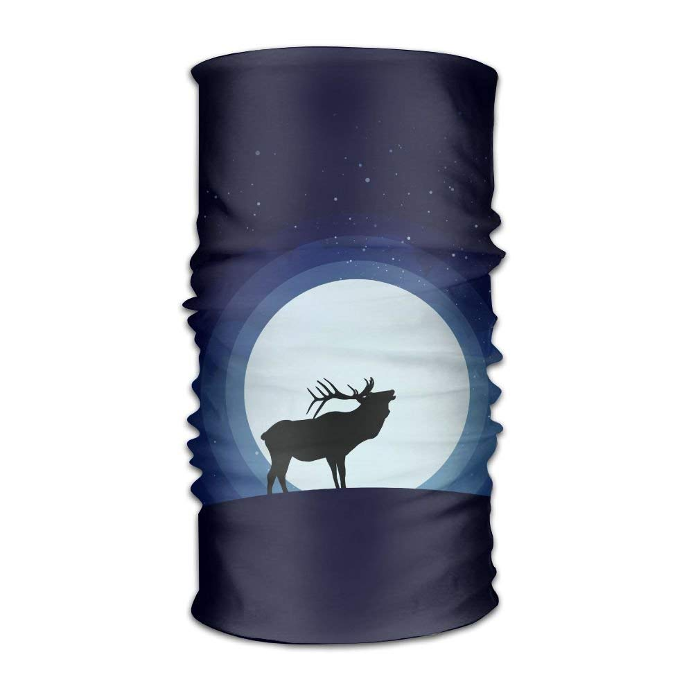Deer And Moon Unisex Fashion Quick-drying Microfiber Headdress Outdoor Magic Scarf Neck Neck Scarf Hooded Scarf Super Soft Handle