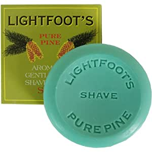 Lightfoot's Classic Pine British London Creme Shave Shaving Soap Men