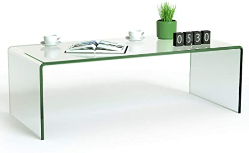 Best living room table: Tangkula Glass Coffee Table