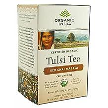 Organic Tulsi Tea, Red Chai Masala 18 ct by Organic India (Pack of 2)