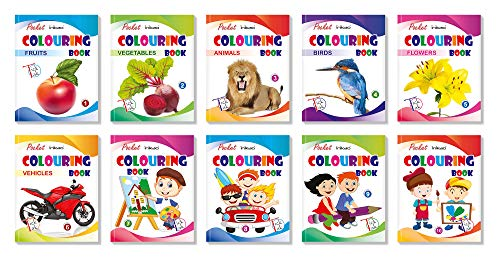 Set of 10 Pocket Colouring Book Collections by InIkao