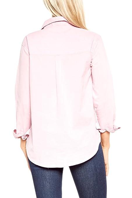 Velvet By Graham & Spencer Woman Minnie Cotton-poplin Shirt Pastel Pink Size XS Velvet Purchase qIp1fzG9ZV