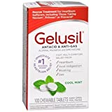 Gelusil Antacid, Anti-Gas Chewable Tablets, Mint 100 ea by Gelusil