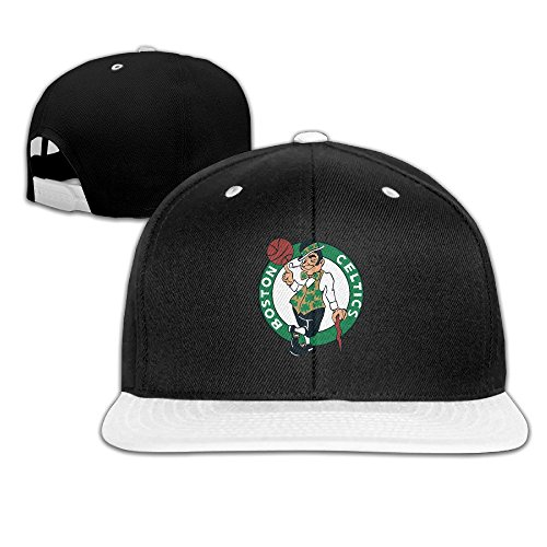 Cool Boston Celtics Team Basic Logo Flat Brim Snapback Hat