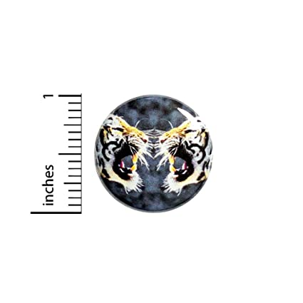 250ae73e00 Amazon.com  Cool Roaring Tiger Button Pin Fierce Tough Awesome Backpack  Pinback 1