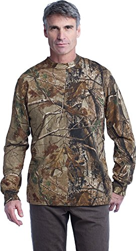 Russell Outdoors ™ Realtree Long Sleeve Explorer 100% Cotton T-Shirt with Pocket. S020R ()