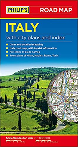 Philips Italy Road Map Road Maps Amazoncouk Philips Maps - Clear map of italy