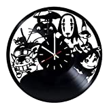 Studio Ghibli Vinyl Record Wall Clock - Living Room or Bedroom wall decor - Gift ideas for friends, kids, children – Movie Unique Art Design
