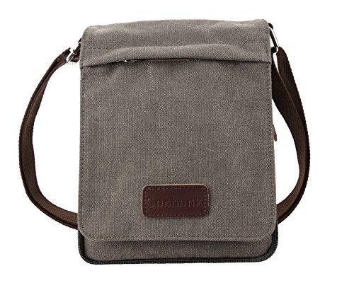 Bag Vintage Mini (Sechunk Small Vintage Canvas Messenger Cross body bag Shoulder bag (s_Grey, small))