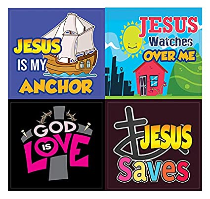 Awesome God Stickers for Kids Great Variety Colorful Stickers 5-Sheet