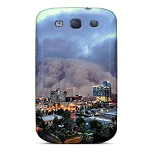 YcRptJJ1091IVKaG Tpu Case Skin Protector For Galaxy S3 Amazing S Storm Over A City With Nice Appearance