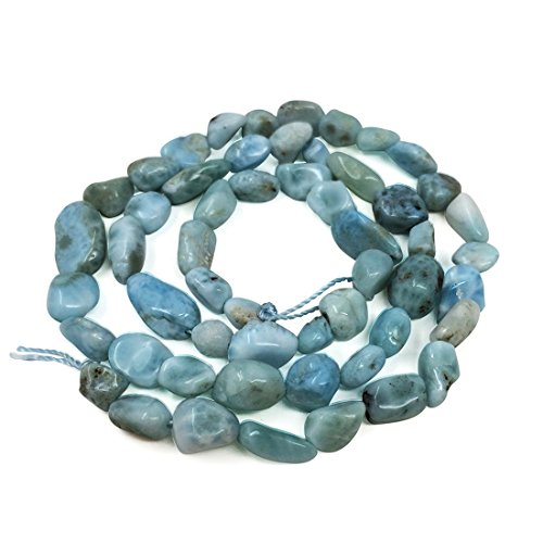 Top Quality Natural Larima Gemstone Center Drilled Oval Rice Stone Beads 16
