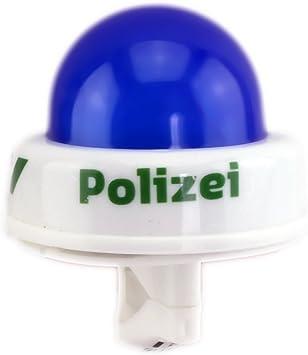 Timbre de bicicleta luz azul Policía sirena, para tu Bike.: Amazon ...