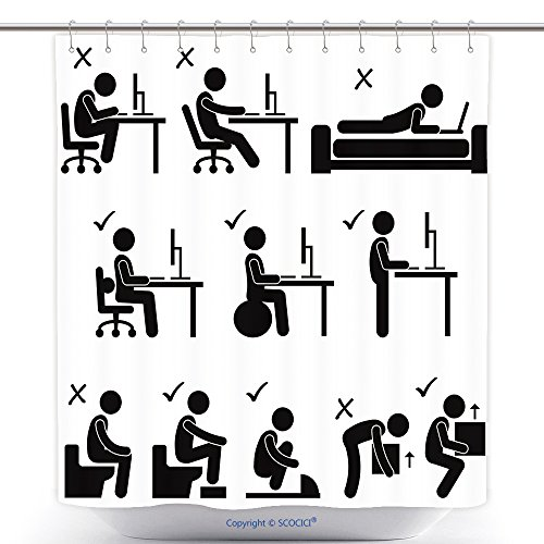 Blood Ideas Costume Bad (Decorative Shower Curtains Good And Bad Human Body Posture Stick Figure Pictogram Icon 175132325 Polyester Bathroom Shower Curtain Set With)