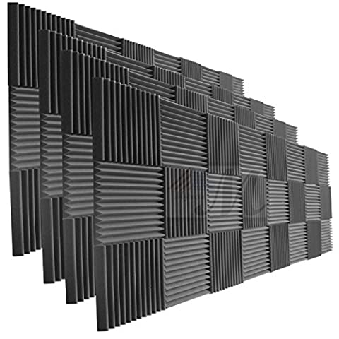 96 Pack Acoustic Panels Studio Foam Wedges 1