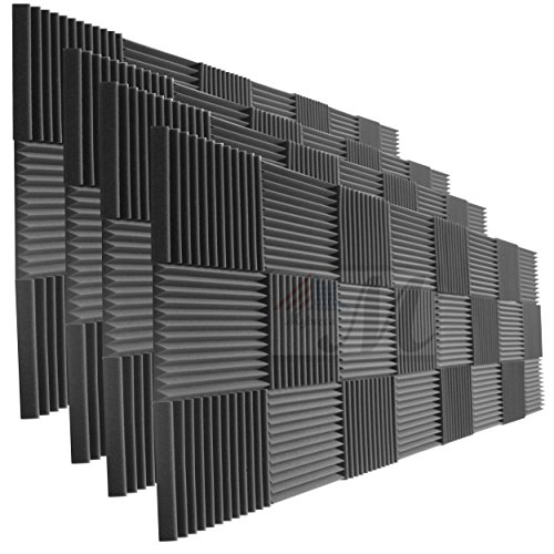 96 Pack Acoustic Panels Studio Foam Wedges 1