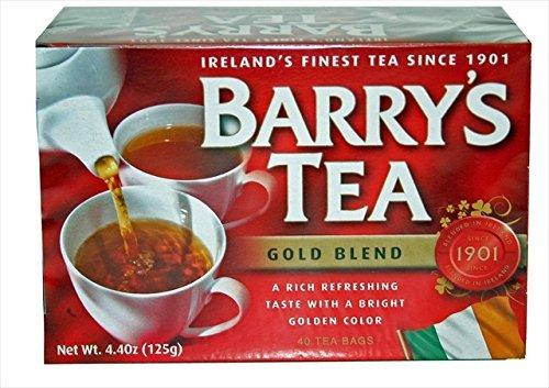 Barrys Gold Blend Tea, 4.4 Ounce - 40 bag per pack -- 12 packs per (Barrys Case)