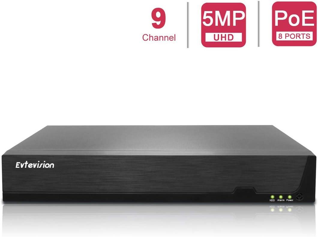 Keine HDD 4K-Ausgang Evtevision 32 Kanal 5MP Onvif NVR IP Netzwerk Video Rekorder H.265 CCTV NVR,Unterst/ützung Onvif P2P Cloud Schnelle Einfache Remote View Motion Detection