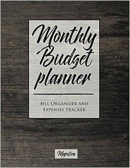 my home budget planner monthy bill organizer expense tracker book